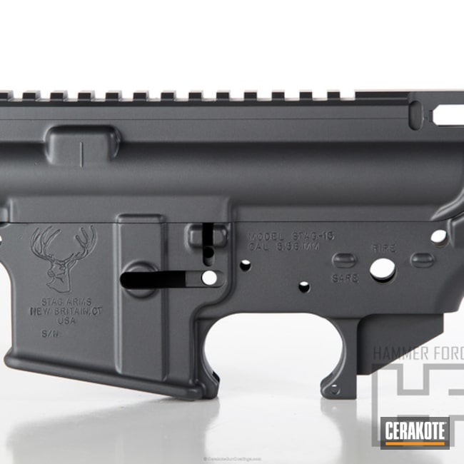 Cerakoted: Sniper Grey H-234,Stag Arms,SLR Rail,Tactical Rifle,Gun Parts,AR-15