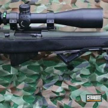 Cerakoted H-146 Graphite Black And H-229 Sniper Green