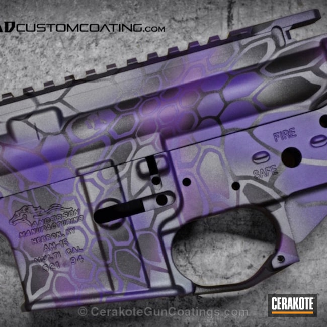 H-217 Bright Purple with H-146 Graphite Black and H-227 Tactical Grey