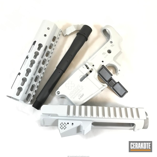Cerakoted: Graphite Black H-146,BATTLESHIP GREY H-213,Gun Parts,Noveske