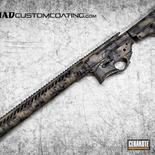 H-146 Graphite Black with H-267 MagPul Flat Dark Earth and H-232 MagPul O.D. Green