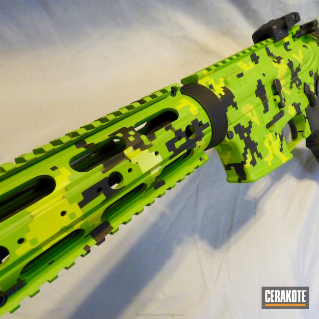 H-146 Graphite Black with H-168 Zombie Green and H-166 Electric Yellow