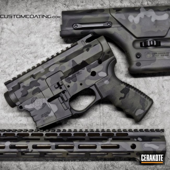 H-231 MagPul Foilage, H-146 Graphite Black and H-214 Smith's Grey