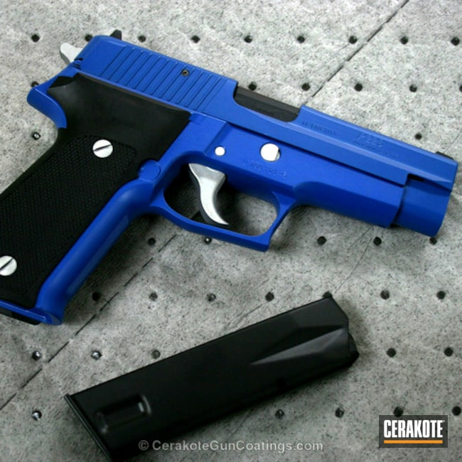 H-171 NRA Blue and H-151 Satin Aluminum