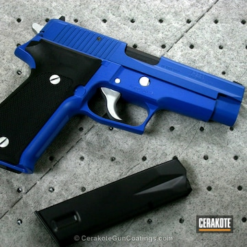 Cerakoted H-171 Nra Blue And H-151 Satin Aluminum