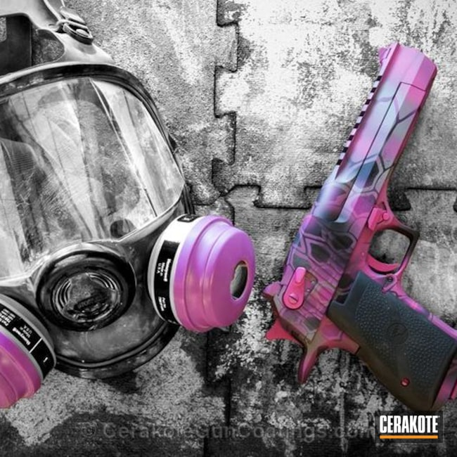 H-224 Sig Pink, H-277 Tactical Grey and H-146 Graphite Black