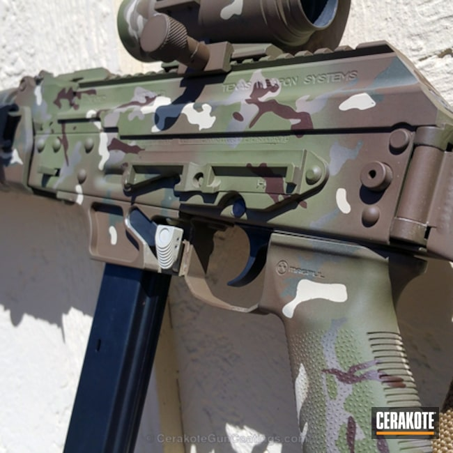 H-231 MagPul Foliage Green, H-212 Federal Brown, H-269 Barrett Brown, H-143 Benelli Sand and H-189 Noveske Bazooka Green