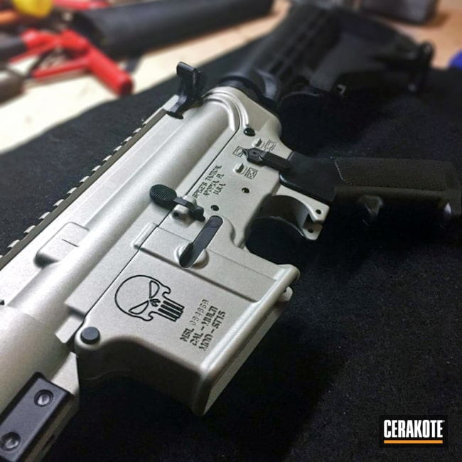 Cerakoted: Punisher,Spike's Tactical,Crushed Silver H-255,Tactical Rifle