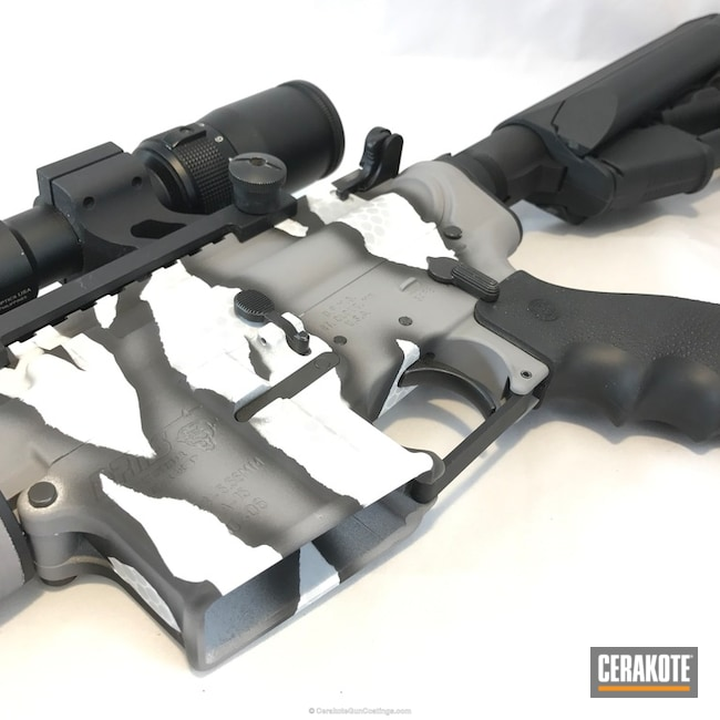 H-146 Graphite Black, H-140 Bright White, H-139 Steel Grey and H-188 MagPul Stealth Grey