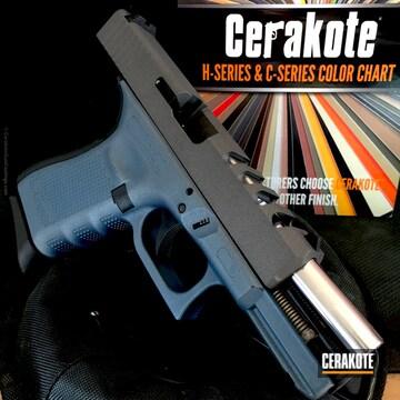 Cerakoted H-185 Blue Titanium And H-237 Tungsten