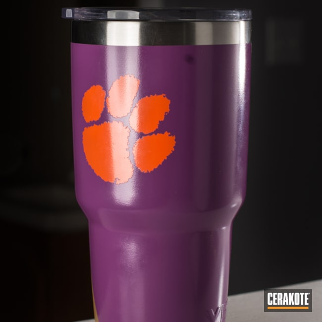 Smaller version of the 2nd project picture. Yeti, Gold H-122Q, Wild Purple H-197, Custom Logo, Hunter Orange H-128Q, Custom Tumbler Cup, jmu