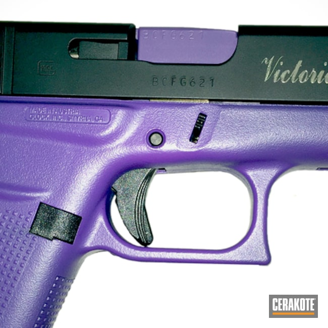 Mobile-friendly version of the 1st project picture. Graphite Black H-146Q, Glock, Two Tone, Pistol, Ladies, Wild Purple H-197