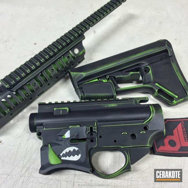 H-146 Graphite Black and H-168 Zombie Green