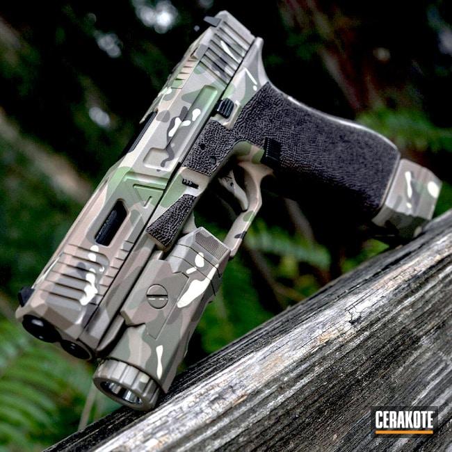 Cerakoted: HAZEL GREEN H-204,MAGPUL® FLAT DARK EARTH H-267,MultiCam,Tactical Light,Camo,BENELLI® SAND H-143,Pistol,Glock,Agency Arms,Chocolate Brown H-258