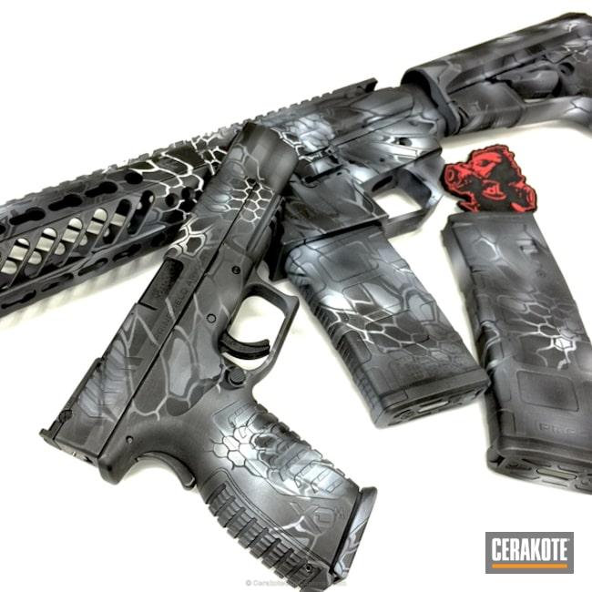Cerakoted: Sniper Grey H-234,Kryptek,Snow White H-136,Graphite Black H-146,Pistol,Tactical Rifle,Springfield Armory,Typhon Kryptek,Seekins Precision