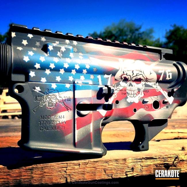 Cerakoted: Bright White H-140,Upper / Lower,Receiver,Graphite Black H-146,Sons of Liberty Gun Works,Crimson H-221,Ridgeway Blue H-220,American Flag,MAGPUL® O.D. GREEN H-232