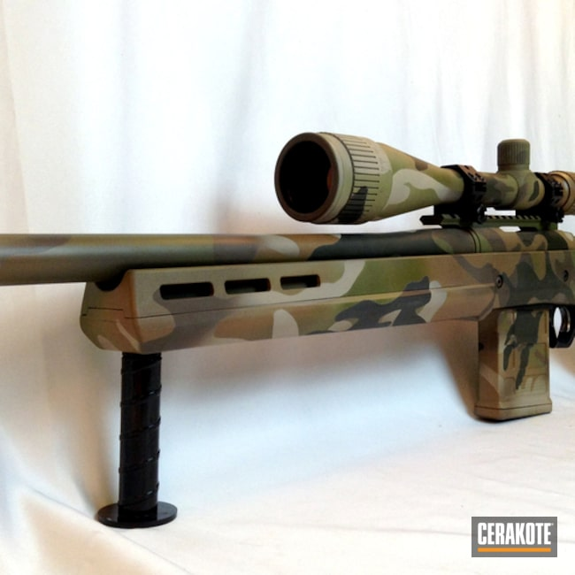 Cerakoted: Rifle,MultiCam,Desert Sand H-199,Patriot Brown H-226,Noveske Bazooka Green H-189,.308,Remington 700,Magpul Hunter