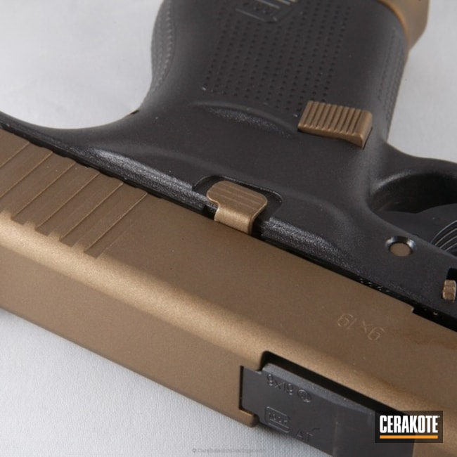 Mobile-friendly version of the 7th project picture. Glock, Pistol, Burnt Bronze H-148Q, Glock 43, Tactical Pistol