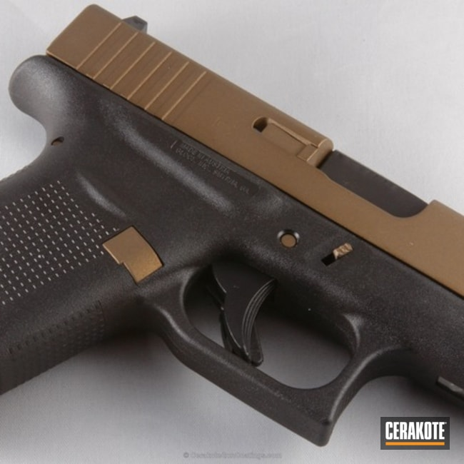 Thumbnail version of the 10th project picture. Glock, Pistol, Burnt Bronze H-148Q, Glock 43, Tactical Pistol