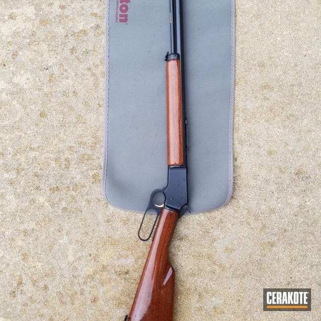 Cerakoted: Rifle,Midnight Blue H-238,Restoration,Lever Action,Marlin 39A