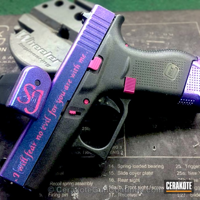 H-224 Sig Pink and H-197 Wild Purple