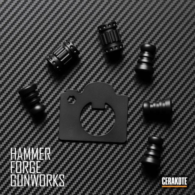 Cerakoted: Bottle Opener,Graphite Black H-146,Solid Tone,More Than Guns,Knife Bead