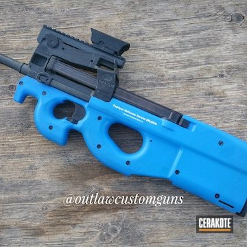 Cerakoted H-171 Nra Blue And H-136 Snow White