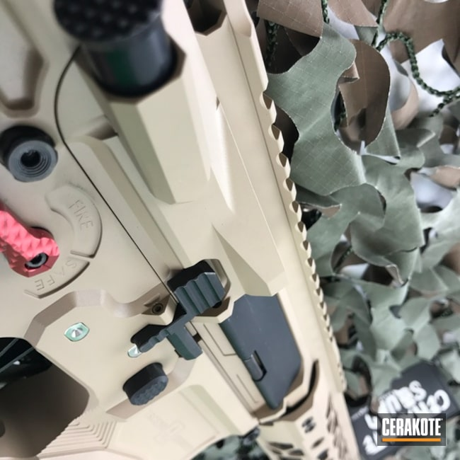 Cerakoted: MCMILLAN® TAN H-203,Tactical Rifle,AR-15,Ascend Armory