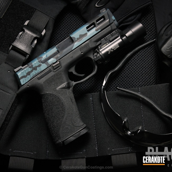 H-188 MagPul Stealth Grey, H-185 Blue Titanium and H-146 Graphite Black