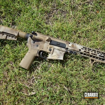 Cerakoted H-143 Benelli Sand, H-261 Glock Fde, H-235 Coyote Tan And H-226 Patriot Brown