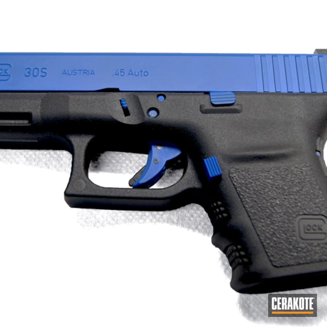 Big version of the 1st project picture. Glock, Two Tone, Pistol, NRA Blue H-171Q, Glock 30S