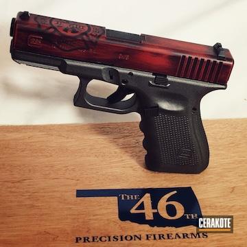 Cerakoted H-146 Graphite Black, H-221 Crimson And H-237 Tungsten
