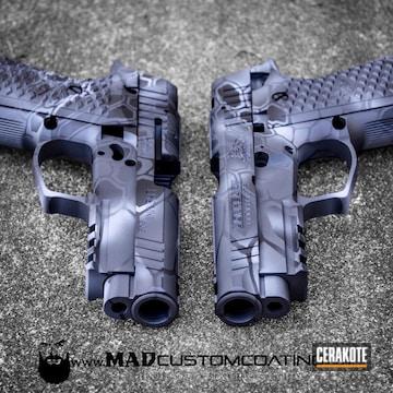 Cerakoted H-214 Smith & Wesson Grey, H-234 Sniper Grey And H-146 Graphite Black