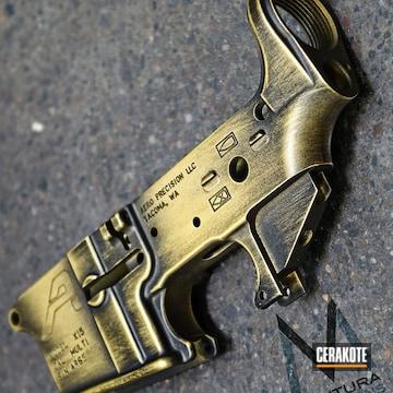Cerakoted H-122 Gold With H-146 Graphite Black
