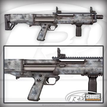 Cerakoted H-237 Tungsten, H-146 Graphite Black, H-188 Magpul Stealth Grey And H-242 Hidden White
