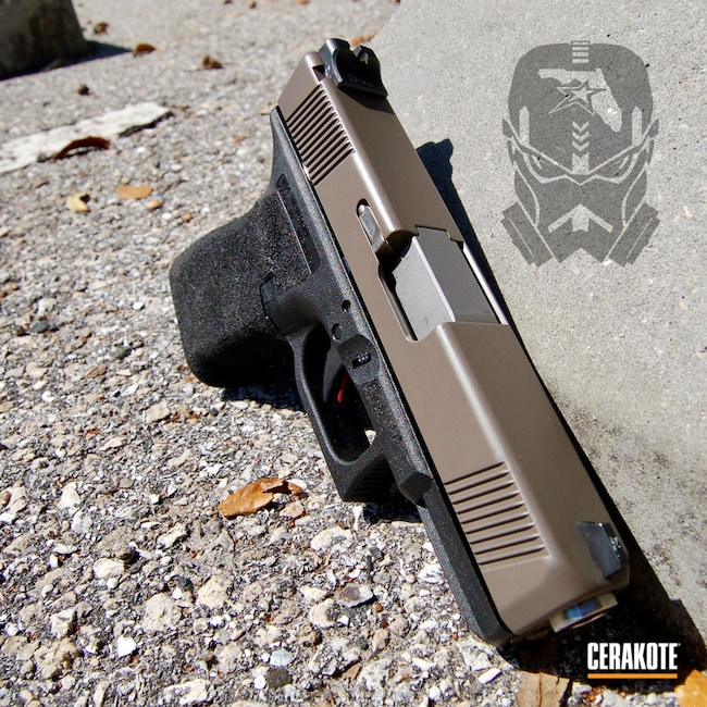 Cerakoted: Glock 19,Stippled,Pistol,Glock,Earth E-130,Lone Wolf Dist,Earth E-130G