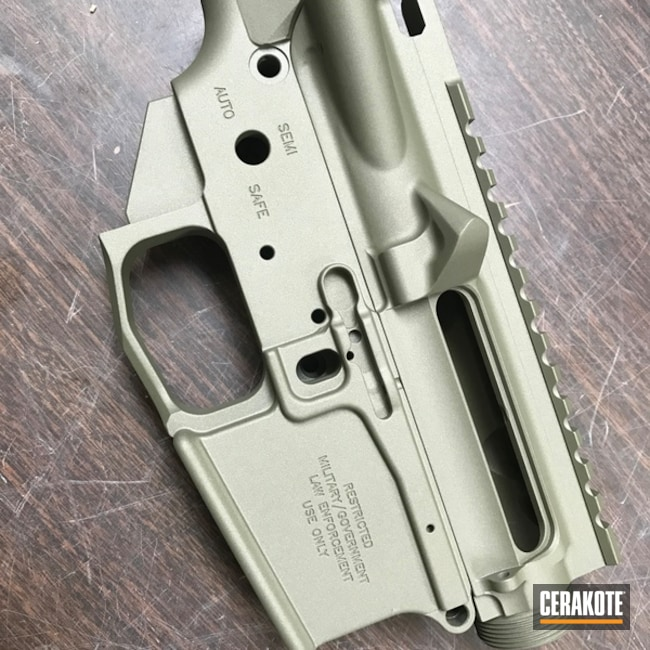 Cerakoted: Lower,Burnt Bronze H-148,Crushed Silver H-255,Solid Tone,Mega Arms,Noveske Bazooka Green H-189