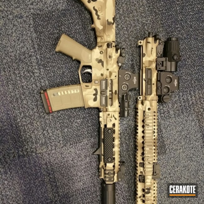 Cerakoted: FS BROWN SAND H-30372,MultiCam,Woodland Camo,Patriot Brown H-226,Tactical Rifle,Flat Dark Earth H-265