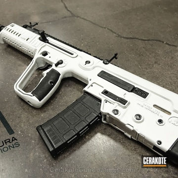 Cerakoted H-140 Bright White And H-146 Graphite Black