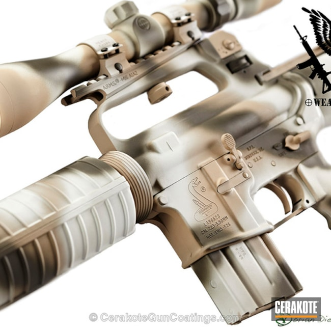 H-140 Bright White, H-199 Desert Sand and H-232 MagPul O.D. Green