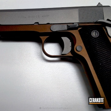 Cerakoted H-148 Burnt Bronze And H-150 Savage Stainless