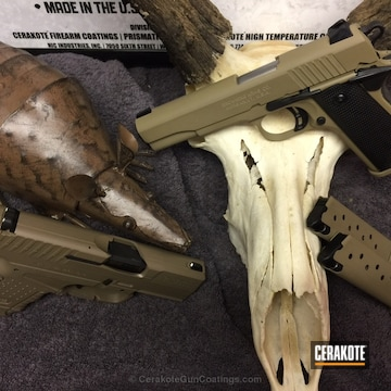 Cerakoted H-267 Magpul Flat Dark Earth And H-235 Coyote Tan
