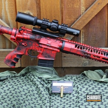 Cerakoted H-167 Usmc Red And H-146 Graphite Black