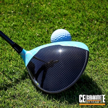 Cerakoted H-175 Robin's Egg Blue With H-255 Crushed Silver