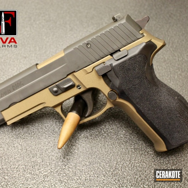 Smaller version of the 1st project picture. Sig Sauer, Pistol, Sig Sauer P226, Burnt Bronze H-148Q