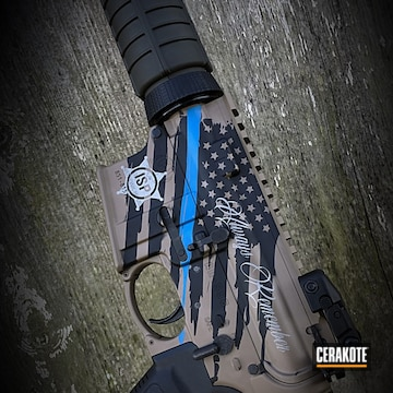 Cerakoted H-267 Magpul Flat Dark Earth, H-232 Magpul O.d. Green, H-220 Ridgeway Blue, H-152 Stainless And H-190 Armor Black