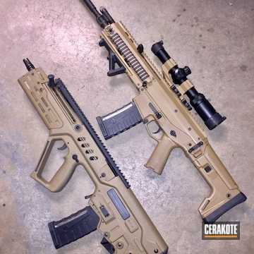 Cerakoted H-268 Troy Coyote Tan And H-148 Burnt Bronze