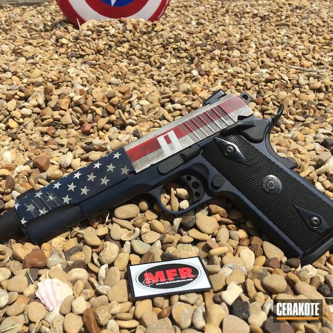 Mobile-friendly version of the 3rd project picture. Graphite Black H-146Q, Taurus, American Flag, Battleworn, USA, Patriotic, USMC Red H-167Q, Snow White H-136Q, Captain America, Kel-Tec Navy Blue H-127Q, US Flag, Distressed American Flag