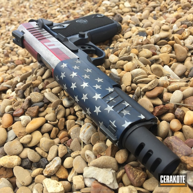 Mobile-friendly version of the 9th project picture. Graphite Black H-146Q, Taurus, American Flag, Battleworn, USA, Patriotic, USMC Red H-167Q, Snow White H-136Q, Captain America, Kel-Tec Navy Blue H-127Q, US Flag, Distressed American Flag