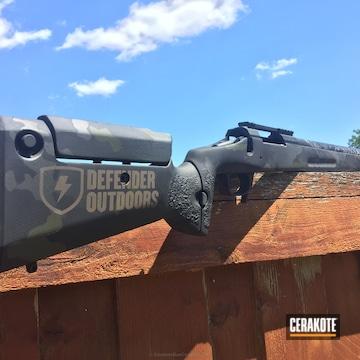 Cerakoted H-146 Graphite Black, H-112 Cobalt, H-170 Titanium And H-232 Magpul O.d. Green